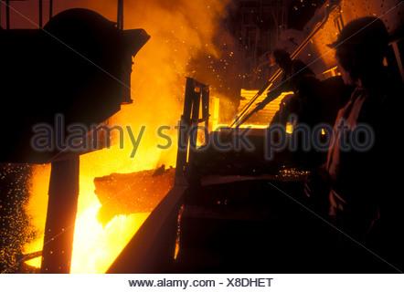 Forno in acciaio a vela Autorità di acciaio di India Ltd pianta a Burnpur West Bengal India Foto Stock