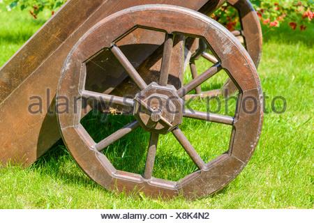 Vecchio carro in legno