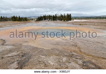 Pool di opale, Midway Geyser Basin, il Parco Nazionale di Yellowstone, Wyoming USA