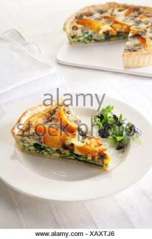 Campi da squash e gorgonzola slice Foto Stock