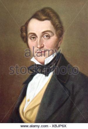 Lortzing, Albert, 23.10.1801 - 21.01.1851, tedesco composr, ritratto, stampa del XIX secolo , Additional-Rights-giochi-NA Foto Stock
