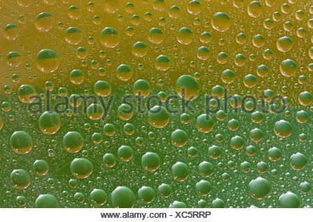 Close up di gocce di acqua texture Foto Stock