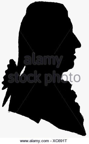 Haydn, Joseph, 31.3.1732 - 31.5.1809, compositore austriaco, ritratto, silhouette, 18th secolo, , Foto Stock