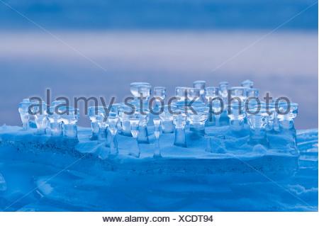 La formazione di ghiaccio su un glaçon