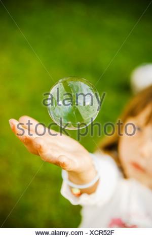 Un soapbubble, Svezia. Foto Stock