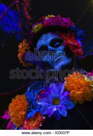 Il giorno dei morti Dia de Muertos La Paz Messico america centrale Baja California Baja de Baja California celebrazione modello colorato Foto Stock