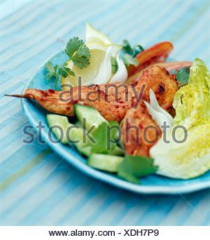 Pollo Tandoori brochettes Foto Stock