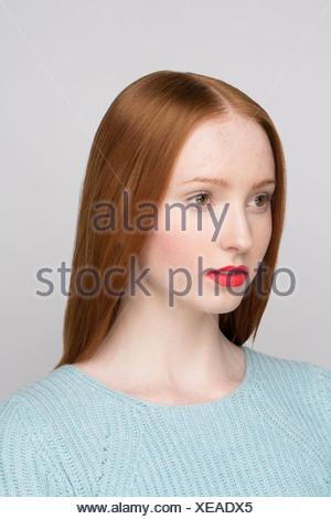 Ritratto di giovane donna Foto Stock