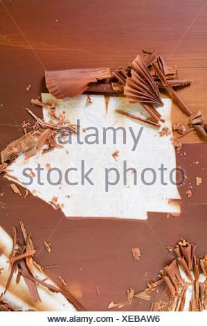 Rendendo i riccioli di cioccolato FoodCollection Foto Stock