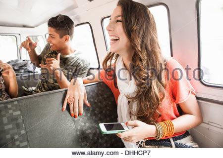 Amigos na viagem de estrada Foto de Stock