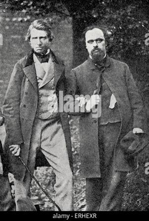 Gabriel Charles Dante Rossetti - poeta inglês, pintor e tradutor juntamente com John Ruskin - autor inglês e crítico Foto de Stock