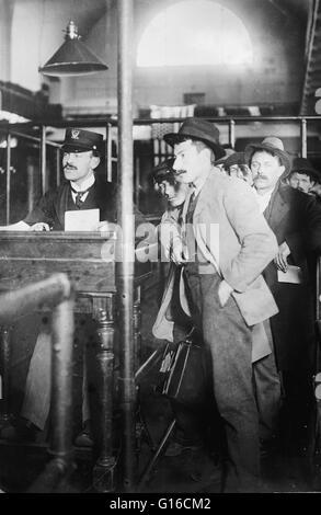 No 35 anos antes de Ellis Island aberto, mais de oito milhões de imigrantes que chegam em Nova Iorque tinha sido Foto de Stock