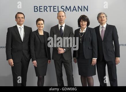 Os membros do Conselho Executivo da Bertelsmann Foto de Stock