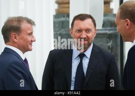 Moscovo, Rússia. Século sep, 2017. sberbank CEO e presidente do conselho executivo German Oskarovich Gref, rusal Foto de Stock