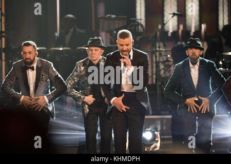 HOLLYWOOD, CA - 26 de fevereiro: Justin Timberlake participa do 89º Annual Academy Awards no Hollywood & Highland Foto de Stock